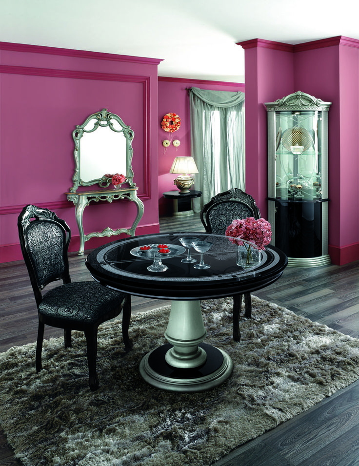 Purple Dining Room Chairs - Chic Purple Dining Room With Lilac ...