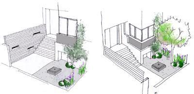 dibujo jardines diseño 10