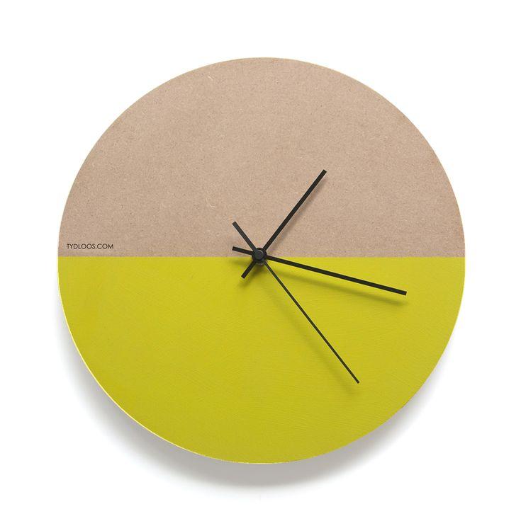 Modern wall clock from TYDLOOS.COM - Yellow Hemisphere