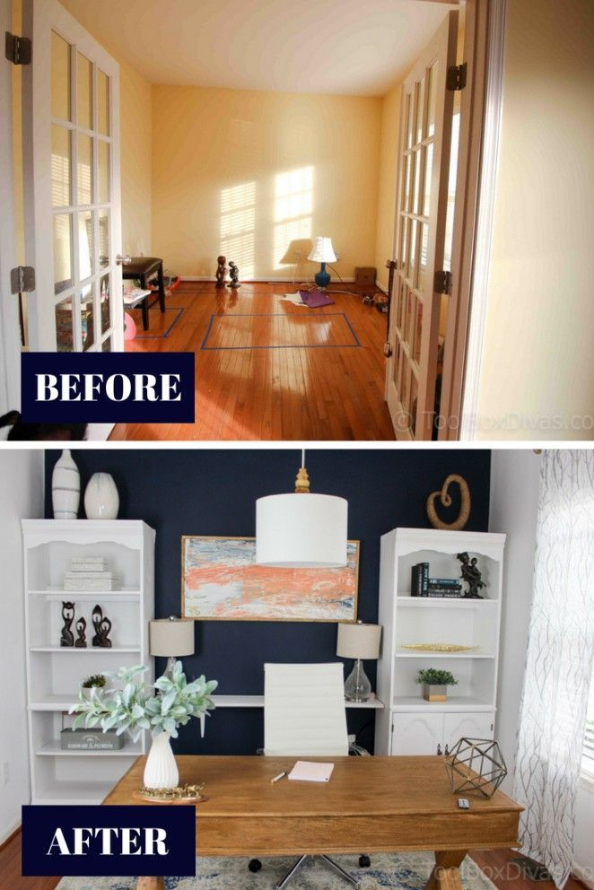 Home Office Makeover On A Budget With Images Home Office
