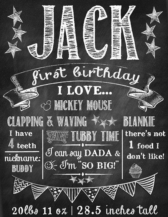 chalkboard first birthday   Chalkboard First Birthday   Favorite Things Printable ...   Birthdays