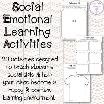 Take the stress out of teaching your students social awareness with these printable activities. This pack includes 20 unique and creative activities that will promote social awareness, resilience, friendship, sharing and positive thinking in your classroom. All of these activities have been tried and tested in the classroom and were proven to be very effective in getting students to think about their actions and how they influence others.