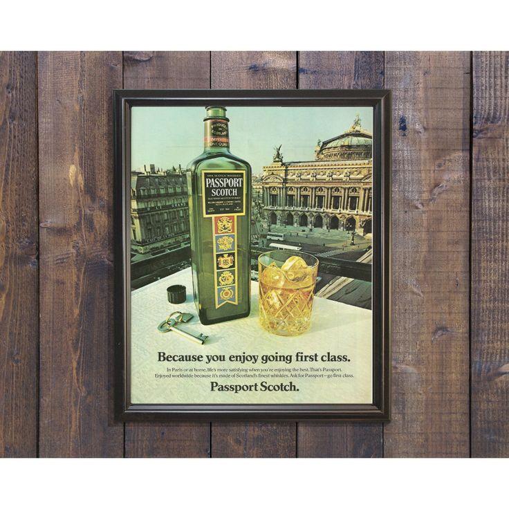 New to RetroPapers on Etsy: Scotch Whisky Bar Sign   Passport Scotch Retro Bar Ad   70s Regal Alcohol Picture   Christmas Scotch Image Manly   Imported Scotland Liquor (8.99 USD)