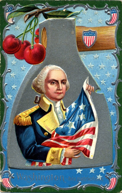 George Washington President Birthday Patriotic Embossed Vintage Postcard. $6