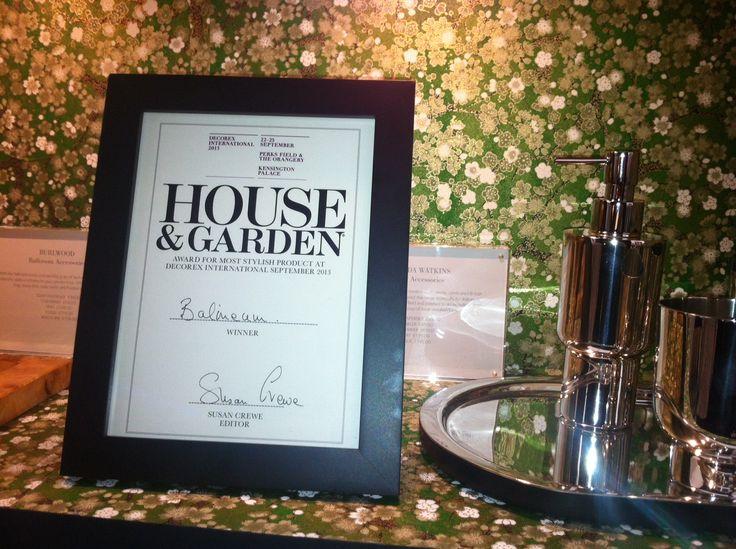 Award Winner! House & Garden Award for Most Stylish Product!
