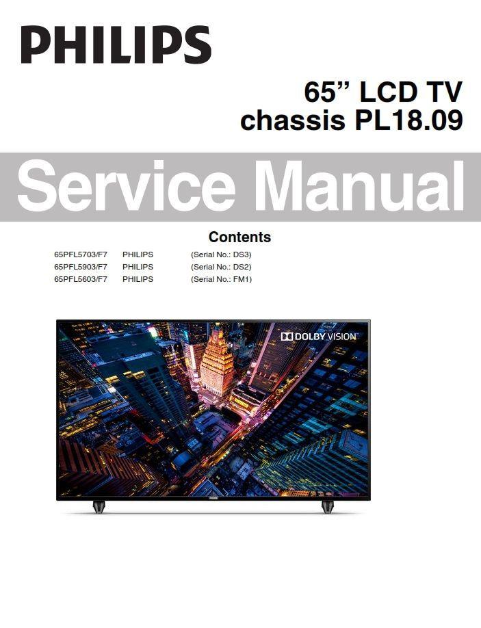 Philips 65PFL5603 65PFL5703 65PFL5903 TV Service Manual & Schematics