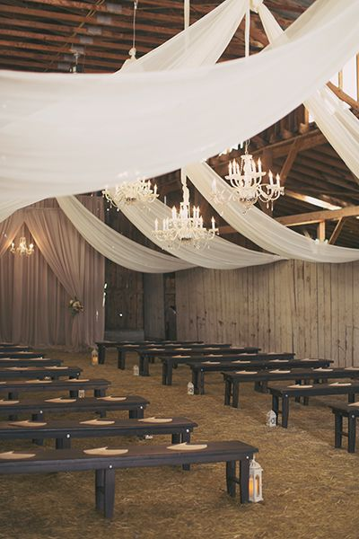 Rustic Glam Barn Ceremony by Michelle Leo Events