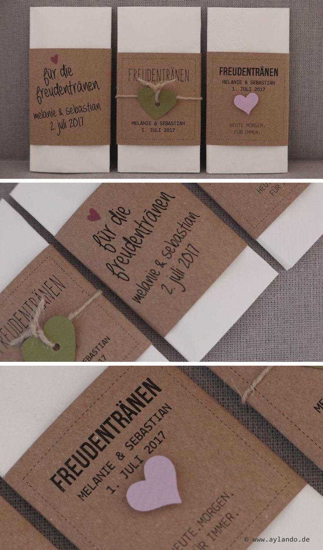 Taschentücher für Freudentränen Kraftpapier / Kraft Tears of Joy Tissues