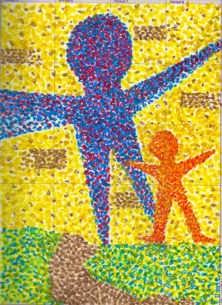 "Pointillism...""Attitude is a little thing that makes a big difference."""