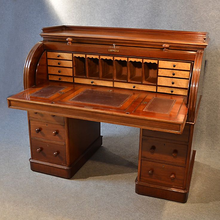 This is a fine antique Victorian Writing Bureau with a Cylinder Roll Top  Desk. - 16 Best 59 KITCHEN DESK BUILT IN #2 FURNITURE PIECES Images On