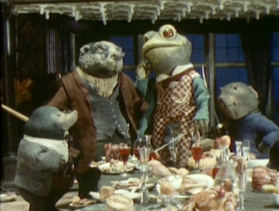 Wind in the Willows. The voices from this show are how these characters will always sound in my head.