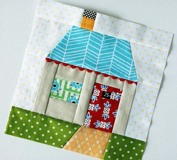 Quilt Block House Patchwork Pdf Sewing Pattern House