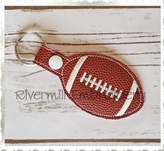$2.95Football In The Hoop Snap Tab Key Fob Machine Embroidery Design