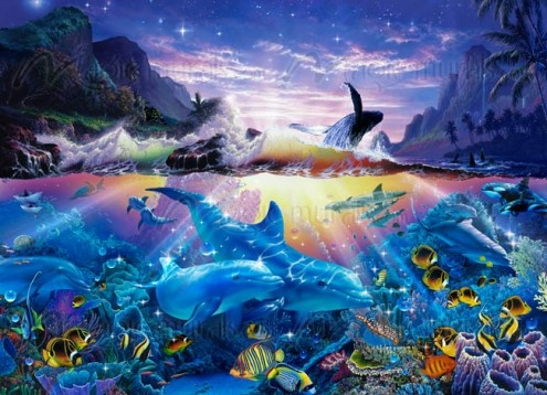 ocean dance christian riese lassen underwater mural from under the sea. Black Bedroom Furniture Sets. Home Design Ideas