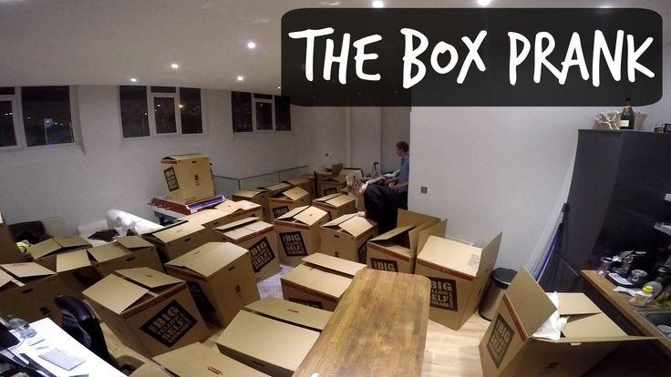 BOX PRANK ON ROOMMATE - YouTube