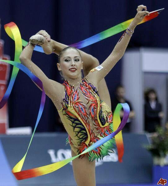 Daria Kondakova with ribbon
