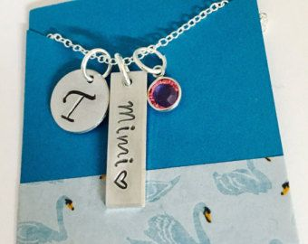 Grandmother Necklace, Mother's Day, Mimi Necklace, Mom  Necklace, Family Necklace