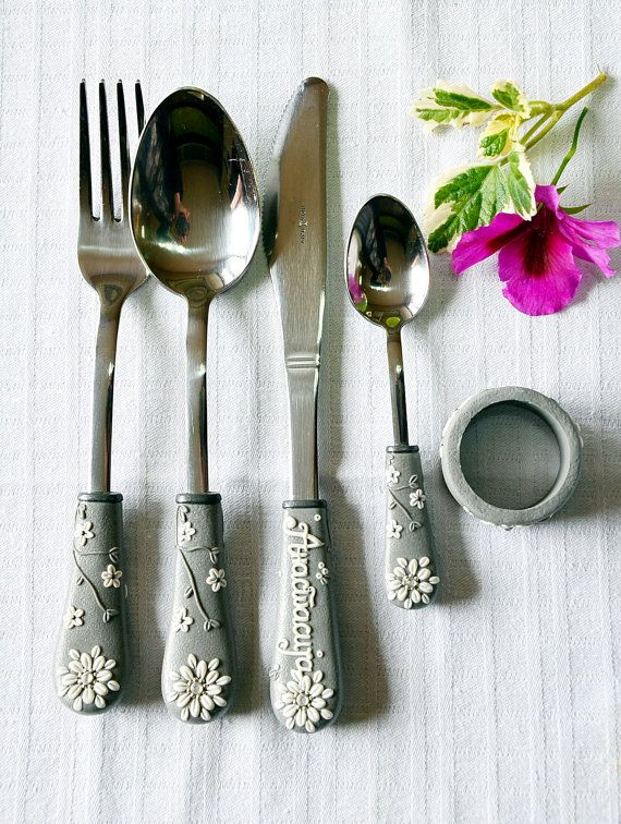 Unique Wedding gift Custom Spoon Fork Knife by RadArtaDesign