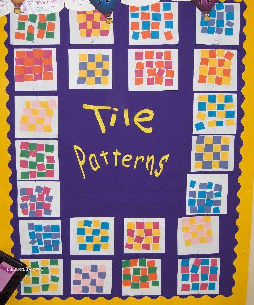 Tile patterns classroom display photo - Photo gallery - SparkleBox
