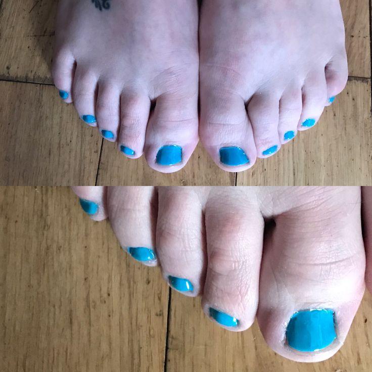 Mini Pedicure Turquoise Gel Polish