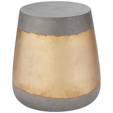 A hollowed out inside makes this stylish indoor-outdoor side table a versatile, lightweight design.