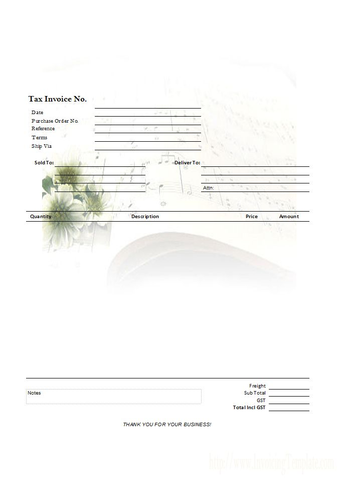 Simple Template with Printable Watermark