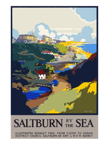 Vintage Travel Poster - UK - Saltburn by the Sea - Railway
