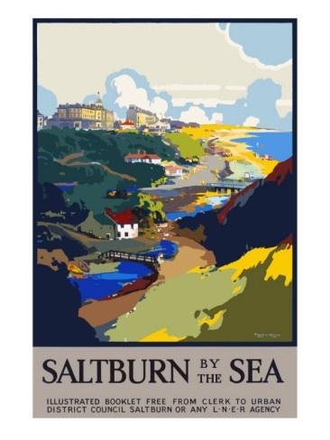 Vintage Travel Poster - UK - Saltburn by the Sea - Railway