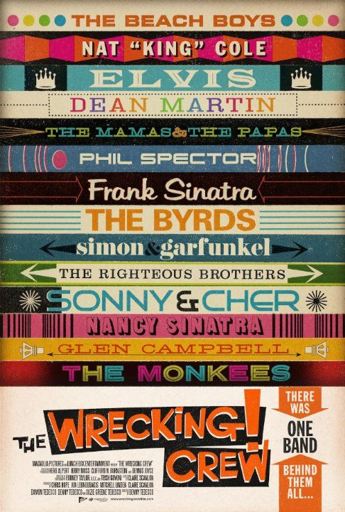 The Wrecking Crew (2008), directed by Denny Tedesco. Profiles the group of Los…