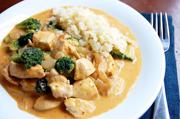 Chicken Panang Curry with Cauliflower Rice | Paleo Grubs