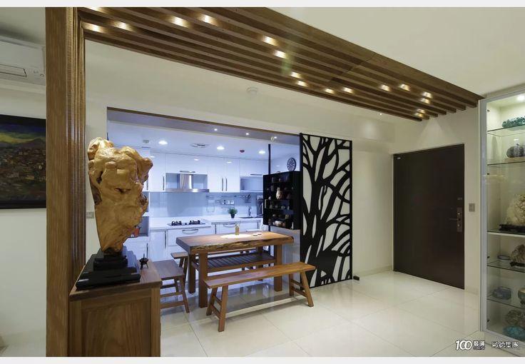 冷暖色調相融的現代人文_禪風設計個案—100裝潢網