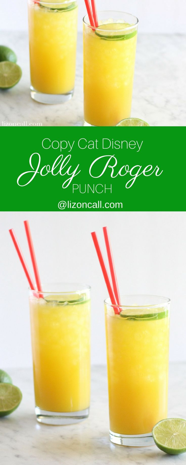 This copycat version of the Jolly Roger Punch just might be better than the original found at Disney for the 50th anniversary of Pirates of the Caribbean.