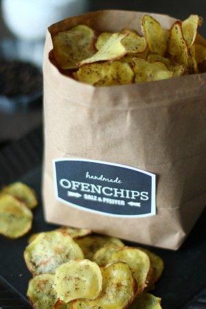 Selbstgemachte Kartoffelchips. Mega lecker