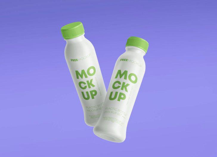 Download Multipurpose Plastic Bottle Mockup Set Free Package Mockups Bottle Mockup Bottle Small Glass Bottles