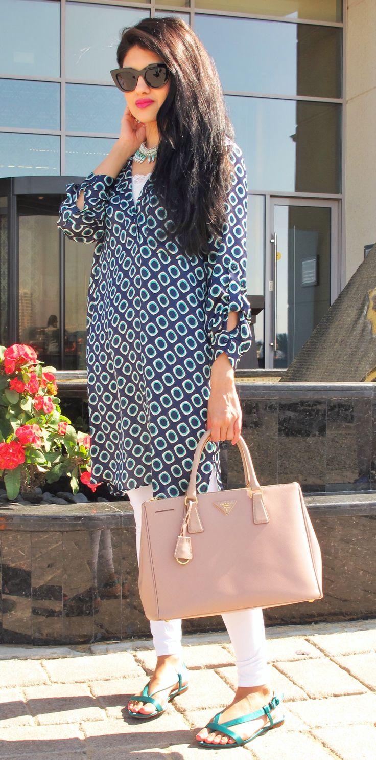 ab42d1514315fa 12345 cb0cb cbd46; canada dubai style printed tunic by zara cateye  sunglasses by asos prada saffiano tote f4c94 5e028