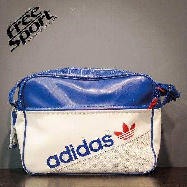 Borsa Tracolla Adidas Pelle Bianca Azzurra M34434 http://freesportstyle.com/adidas/596-borsa-tracolla-adidas-pelle-bianca-azzurra-m34434.html