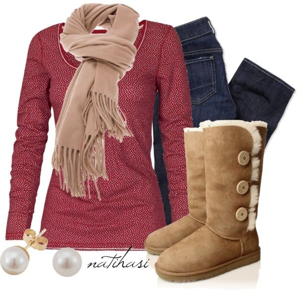 """""""Fall Winter School Outfit"""" by natihasi on Polyvore"""