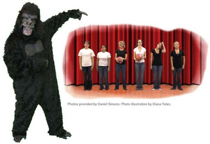 Invisible gorilla basketball video highlights inattentiveness.
