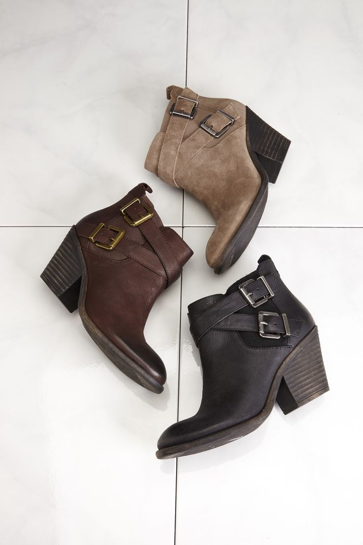 Buckled booties