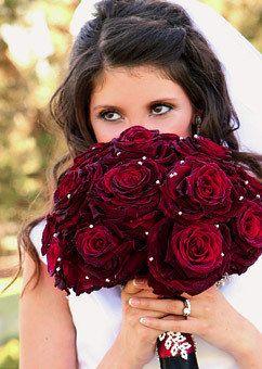 Wedding, Flowers, Red, Roses