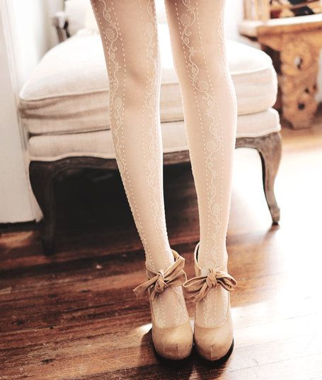 cute tights and shoes