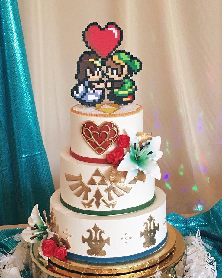Zelda themed wedding cake? Yep we can do that! #zeldacake #nerdywedding   – Wedding – #Cake #nerdywedding #Themed