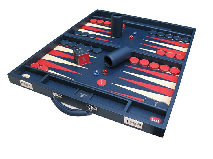 Another contemporary bespoke backgammon, made to order in Marine, Magnolia  Cherry #Bespoke #Backgammon #Handmade #Attaché #Contemporary #Luxury