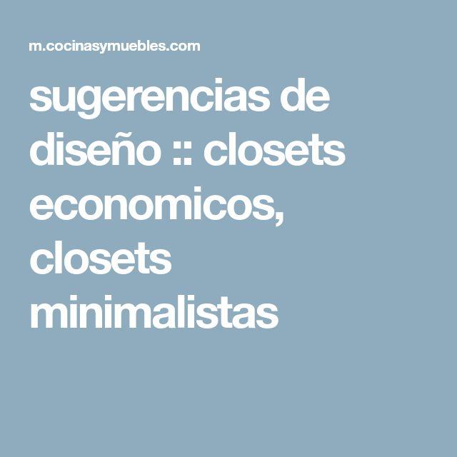 sugerencias de diseño :: closets economicos, closets minimalistas