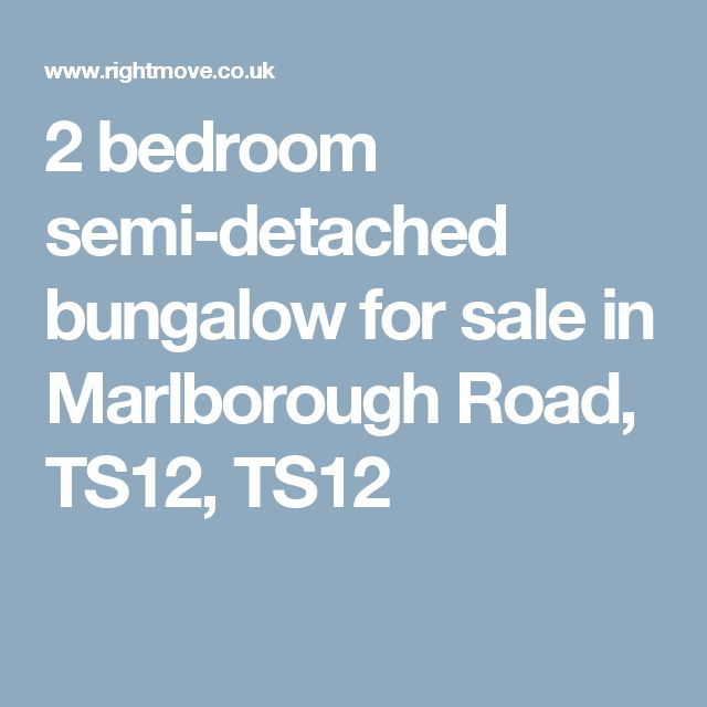 2 bedroom semi-detached bungalow for sale in Marlborough Road, TS12, TS12
