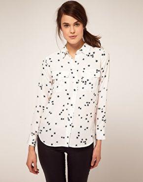 Equipment Slim Fit Two Pocket Star Print Shirt #asos
