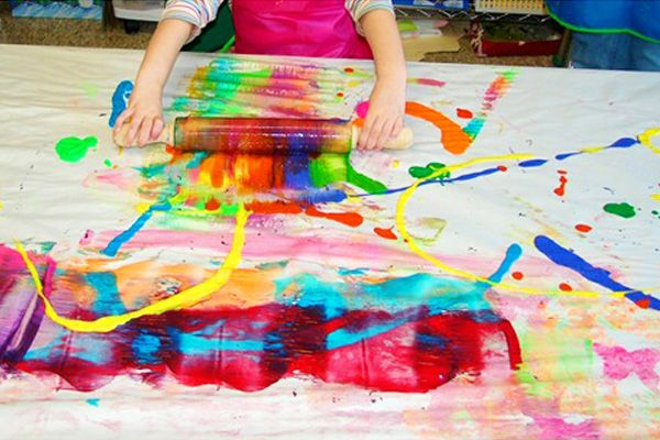 Roller art colour