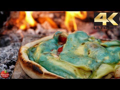 """BLUE BEAR"" Magic Pizza Recipe - Best Pizza Bowl Recipe 4K"