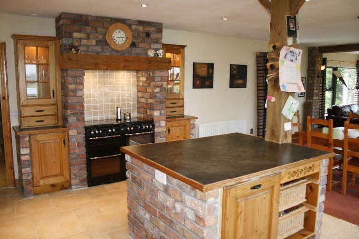 brick island and range surround plough barn kitchen On kitchen units made of bricks