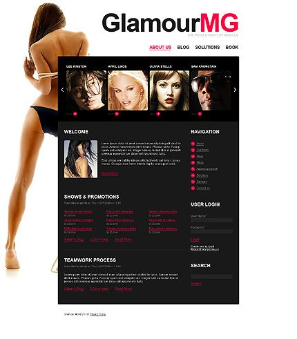 GlamourMG Model's Drupal Templates by Cowboy
